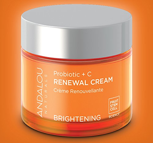 Brightening Probiotic + C Renewal Cream - 1.7 oz. by Andalou Naturals (pack of 2) Crazy Rumors Peppermint Twist Lip Balm, 0.15 oz.