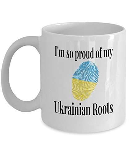 Ukraine Flag DNA Coffee Cup Mug I'm so Proud of My Ukrainian (Ukrainian Vodka)
