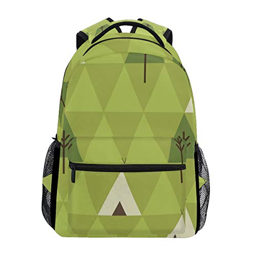 "Stylish Teepee Camping Backpack- Lightweight School College Travel Bags, ChunBB 16"" x 11.5"" x 8"""