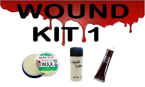 SCARS/WOUNDS MAKEUP KIT, FAKE SKIN, FAKE BLOOD, FX WAX,HALLOWEEN FANCY DRESS -