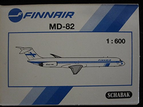 - Finnair MD-82 Airliner By Schabak Made in Germany, 1:600 Scale Model