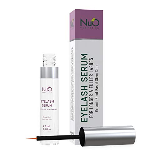 NuOrganic Eyelash Serum | Organic Plant Based Stem Cell, Lash Growth Serum (8ML) | Thicker, Fuller, Longer Lashes | Natural Ingredients with Active Peptides | Hypoallergenic, Vegan and Cruelty Free (Active Ingredient In Rodan And Fields Lash Boost)