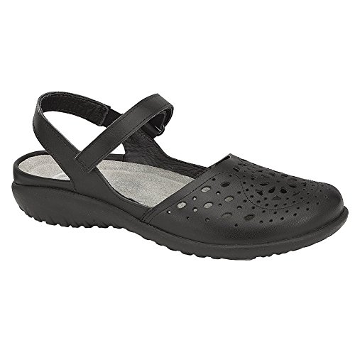 NAOT Arataki Koru Women Sandals, Black Raven Leather,Size - 41