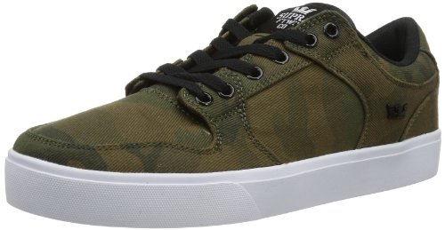 Supra Vaider LC Skate Shoe - Men's Camouflage Twill, - Suede Camo Skate Shoes