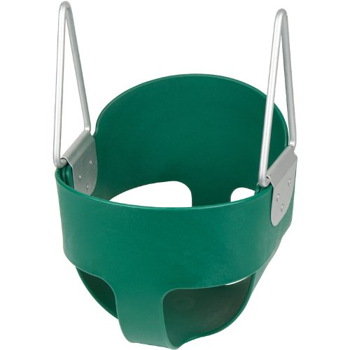 (Swing Set Stuff Highback Full Bucket (Green) -Seat Only- with SSS Logo)