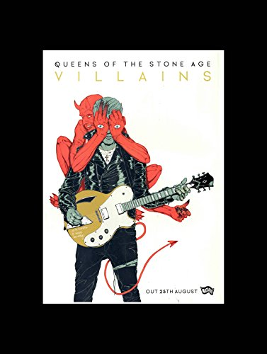 Stick It On Your Wall Queens of Stone Age - Villains New Album 2017 Release Date Mini Poster - 40.5x30.5cm