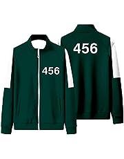 Squid Game Korean TV Jacket Stand Collar Sweatshirt Suit Fashion Casual Sweatshirts Suit for Man Woman
