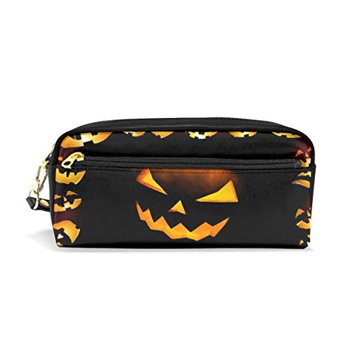 Pencil Pen Case Bag Halloween Calabazas Pouch Holder for Middle School Office Adult Large Storage Coin for Artists with Handy Pencil Box Desk]()