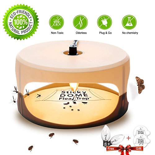 Flea Trap with 2 Glue Discs Waterproof Non-Toxic No Insecticides Trap Killer Best Pest Control for Home (flea Trap)