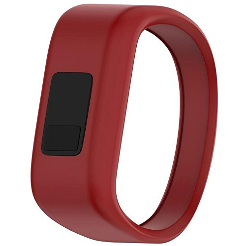 QGHXO Band for Garmin Vivofit Jr/Vivofit Jr. 2, Soft Silicone Replacement Watch Band Strap for Garmin Vivofit Jr/Vivofit Jr. 2 Activity Tracker, Small, Large (Red, Small: 5.7)