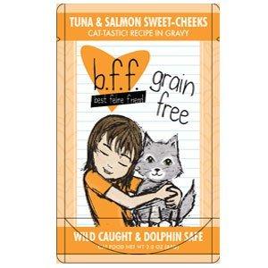 Best Feline Friend Tuna and Salmon Sweet Cheeks Cat Food 24x3 oz Pouches by Weruva