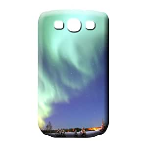 samsung galaxy s3 Strong Protect dirt-proof Scratch-proof Protection Cases Covers phone back shell colorful aurora polar light polarization