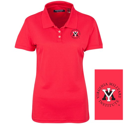 NCAA VMI Keydets Women's Ladies' Classic Pique Polo, Cardinal, XX-Large