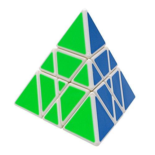Cube Triangle Magic - Triangle Pyramid Magic Speed Cube, YKL World Pyraminx Smooth Turner Twist Puzzle Intelligence Children's Toy (white)