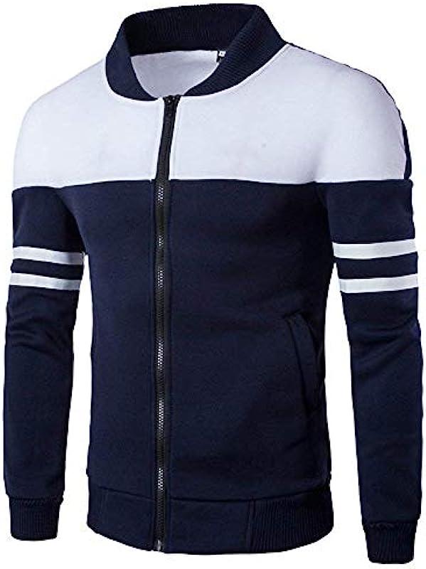 Męska kurtka zimowa bluza pikowana suwak odzież elegancki sweter kurtka bluza z długim rękawem płaszcz odzież na owoce z kieszeniami: Odzież