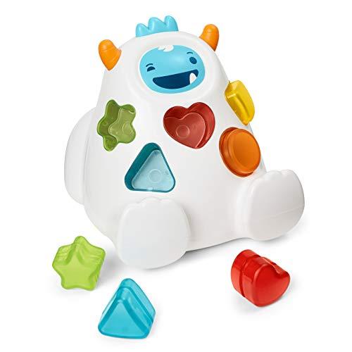 4164m6FBnqL - Skip Hop Yeti Shape Sorter Explore & More 3-Stage Spinning & Sorting Developmental Learning Toddler Toy