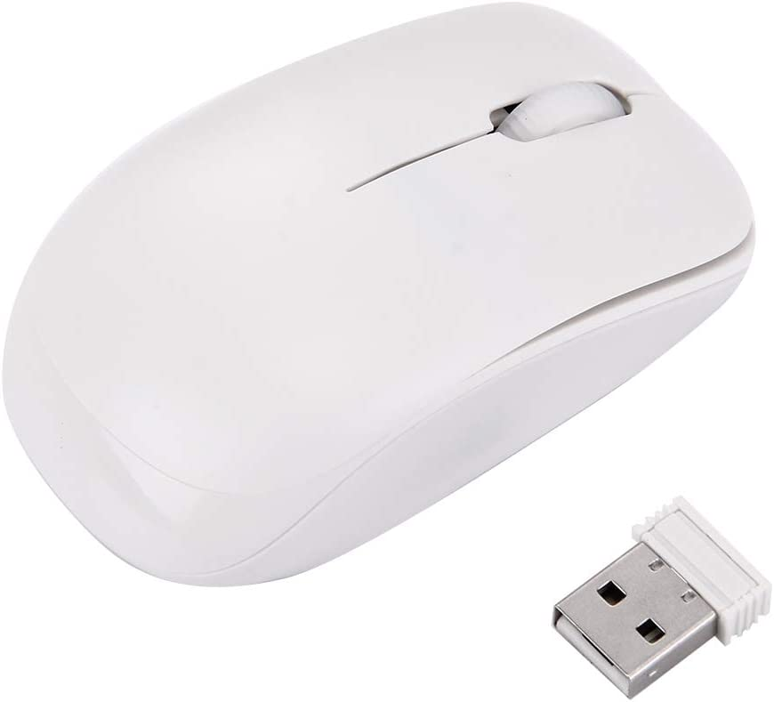 Wireless Optical Mouse with Embedded USB Receiver for Computer PC Laptop LYX JK-903 2.4GHz Wireless 78 Keys Mini Keyboard with Keyboard Cover Black Color : White Durable and Wearable