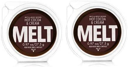 Bath and Body Works 2 Pack Hot Cocoa & Cream Fragrance Melt. 0.97 Oz / 27.5 g