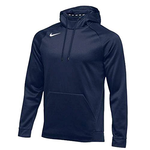 (NIKE Mens Therma Hoodie Pullover 867302-419 Team Navy Size Large)