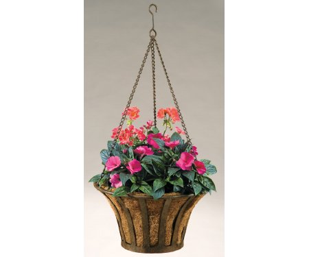 Deer Park 020020 Deep Park Solera Hanging Basket with Cocoa Moss Liner, - Caddy Cocoa