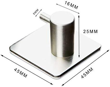   Selbstklebende Handtuchhalter 3M Eqosun/® Premium Handtuchhaken 4 St/ück Kleiderhaken aus Edelstahl