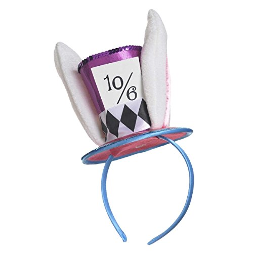 Mad Hatter Headband Fancy Dress Wonderland March Hare Ears Costume Accessory ()