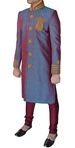 INMONARCH Mens Eye Catching Party Wear Indowestern IN263R 38R Light-blue