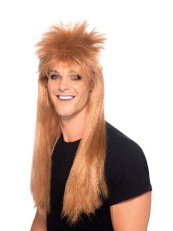 [Smiffy's Men's 80's Rocker Mullet Wig] (Mullet Costumes Wig)