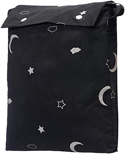 AmazonBasics Portable Baby Travel Window Blackout Blind Shades with Suction Cups – Moon & Stars, 1-Pack