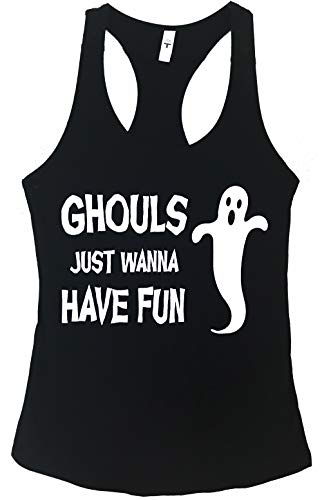 The Bold Banana Women's Ghouls Just Want to Have Fun Tank Top - L - Black (Ghouls Just Want To Have Fun Shirt)
