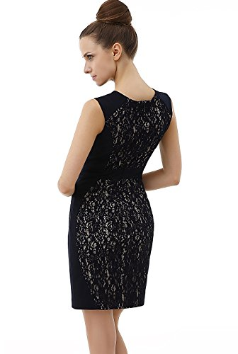 Sheath phistic Lace Women's Sleeveless Dress Navy xwPYqfPv