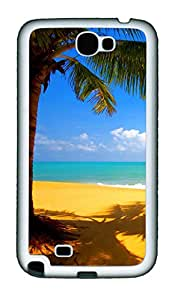Samsung Galaxy Note II N7100 Cases & Covers - Yellow Beach Custom TPU Soft Case Cover Protector for Samsung Galaxy Note II N7100 - White
