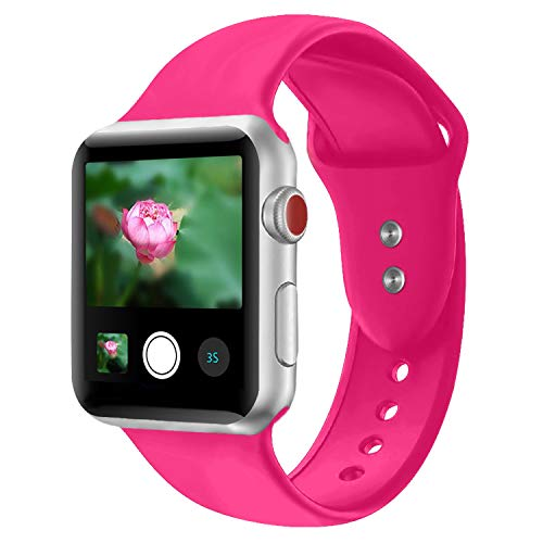Booyi Sport Band for Apple Watch 38mm 42mm, Soft Silicone Replacement Bands for iWatch Apple Watch Series 3,2,1