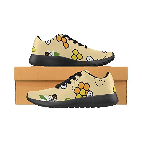 45 Athletic Running Size Flowers Lightweight Womens Color11 Pattern Colorful Paws Casual and Dogs on Sneakers Shoes Print 36 Bone Zenzzle Uw6qa54q