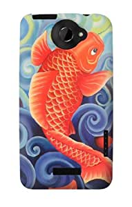 S1022 Goldfish Painting Case Cover For HTC ONE X