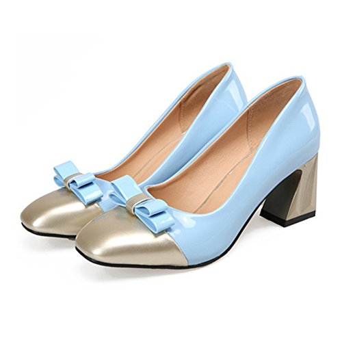 Fashionable Color blue Last Square Small 36 Shoes Chromatic wUIqIZ