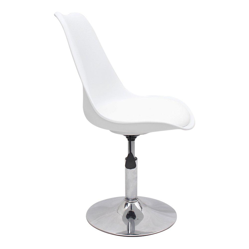 Mesurn JP 伝統的なコンピュータチェアホームスツール、調節可能な座席の高さ40-50、最大重量容量135kg (色 : White-pu, サイズ さいず : 40 cm 40 cm) B07DJ8ZWP7 40 cm 40 cm|White-pu White-pu 40 cm 40 cm