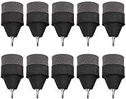 10 PCS Black Foam Archery Arrowhead, Foam Sponge Tipped Arrowhead Broadhead Hunting Game Practice Safety Arrow
