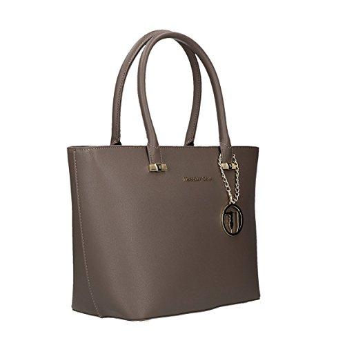 Trussardi Jeans Levanto shopping bag trapezium beige
