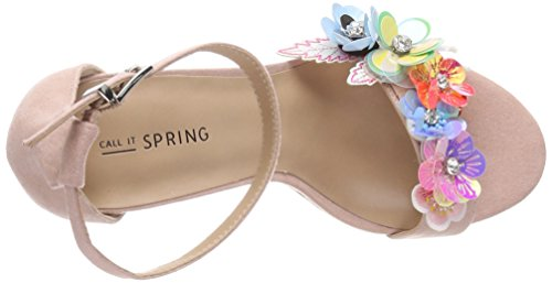 It Spring Cheville Femme Sandales EU Multicolore Cameo Call Bride Eroaviel Rose 16xw4qd1W