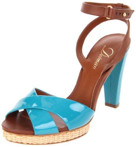 Delman Womens Dani Plate-forme Sandale Turquoise