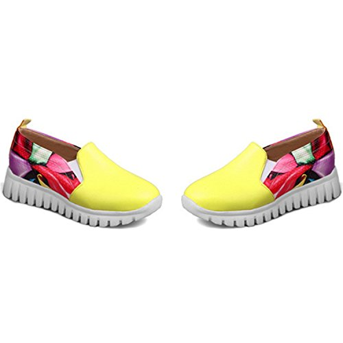 Leisure Big 14 Shoes Yellow Fashion Spring 46 Fashion Woman Shoes Kenavinca Single 34 Size Autumn Quality Comfortable q8PSYwaA