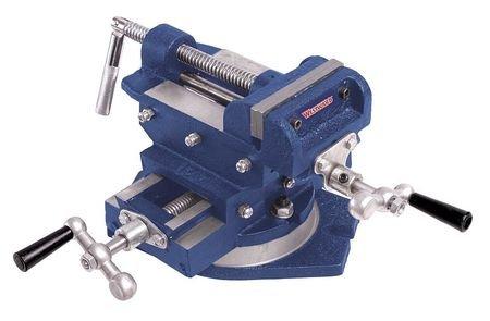 Westward 10D737 Drill Press Vise, Cross Slide, Swivel, 6 In by WestWard Tools