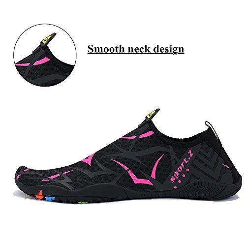 WXDZ Shoes black Swim Shoes Beach Dry rose Walking Men Pool Water Women 2 Aqua Quick Barefoot Running Sports Socks xAwAfrqBn