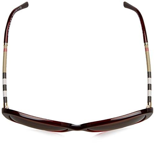 Rosso Be 4235q Donna geometrico Check Burberry Leather browngradient Collection Acetato bordeaux Gradient gn8tCx