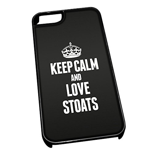 Nero cover per iPhone 5/5S 2489nero Keep Calm and Love Stoats