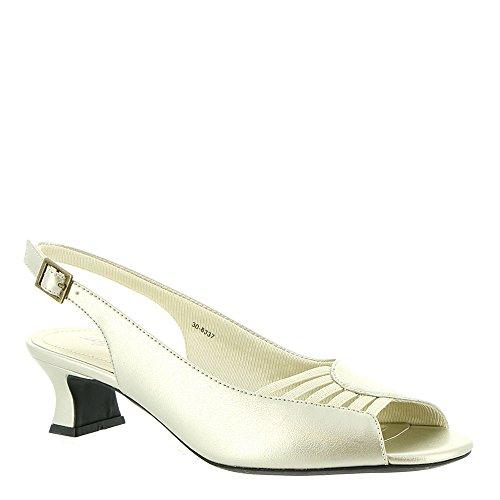 (Easy Street Women's Bliss Heeled Sandal, Champagne, 7.5 M)