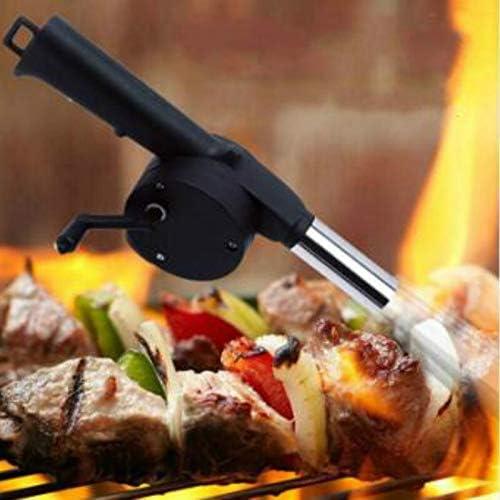 QWERD Ventilateurs pour Barbecue en Plein air de Pique-Nique Camping Barbecue Ventilateur Barbecue Ventilateur Cranked Barbecue Main Outil Ventilateur/Ventilateur Barbecue Feu