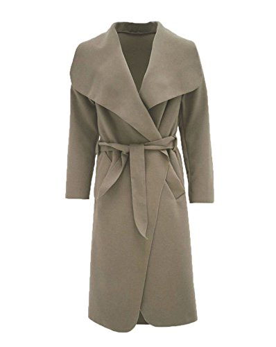 Cascade Moka Les Cape Duster Femmes Fast Belted Long Fashion Manches Plain Manteau qzwBOAf