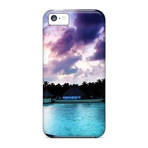 Premium Maldivian Resort Sunrise Heavy-duty Protection Case For Iphone 5c by runtopwell